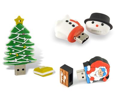 Christmas flash drives
