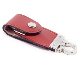 Leather keyfob USB personalised stick